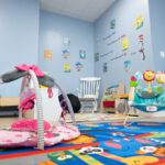 childcare room at Primo Center's shelter in Austin